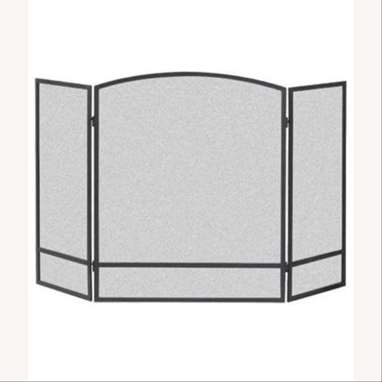 3-Panel Steel Mesh Fireplace Screen Set - image-3