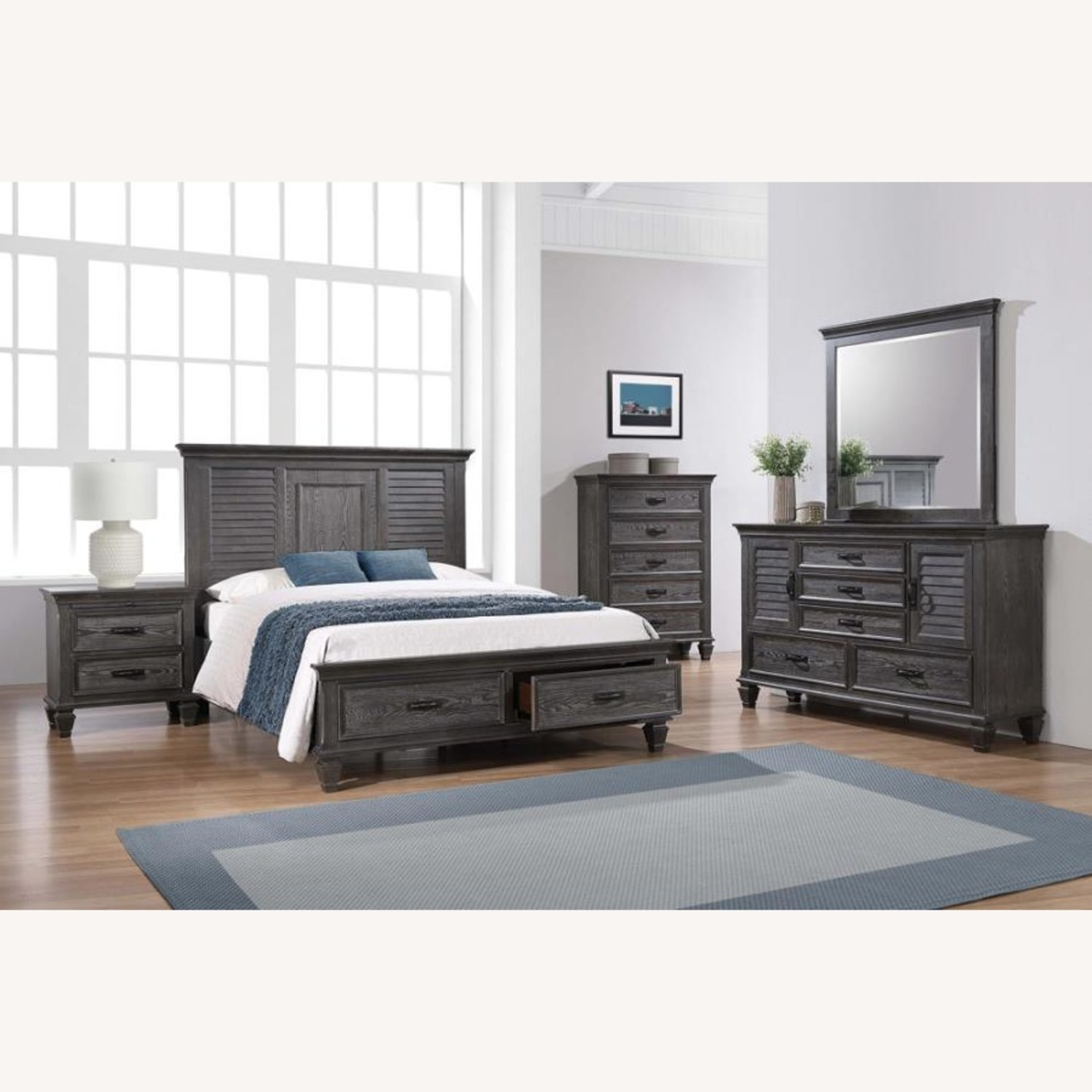 Nightstand In Weathered Sage W/ Charging Space - image-2