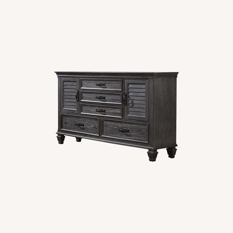 Dresser W/ Self-Closing Drawer In Weathered Sage - image-4