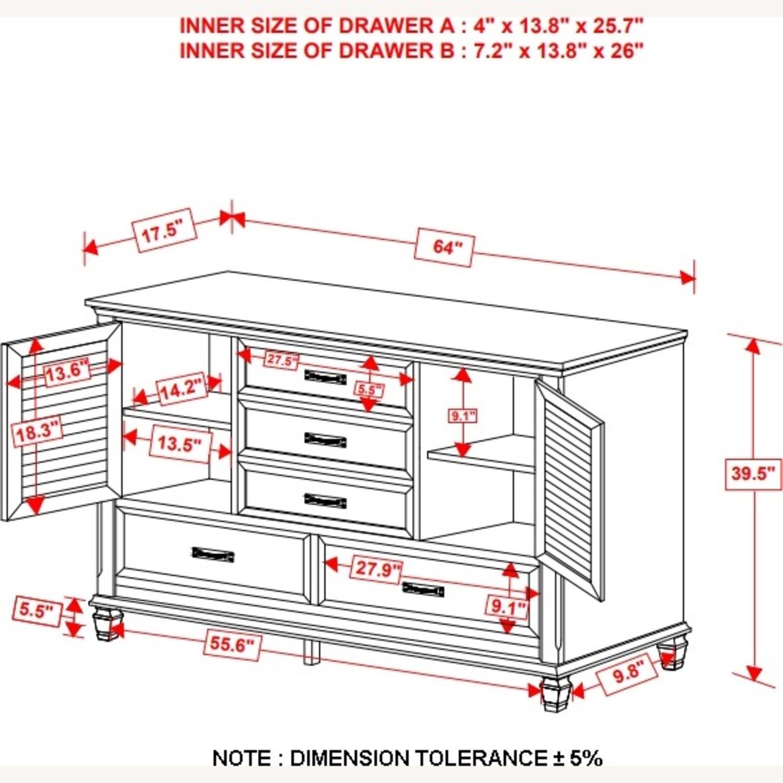 Dresser W/ Self-Closing Drawer In Weathered Sage - image-5
