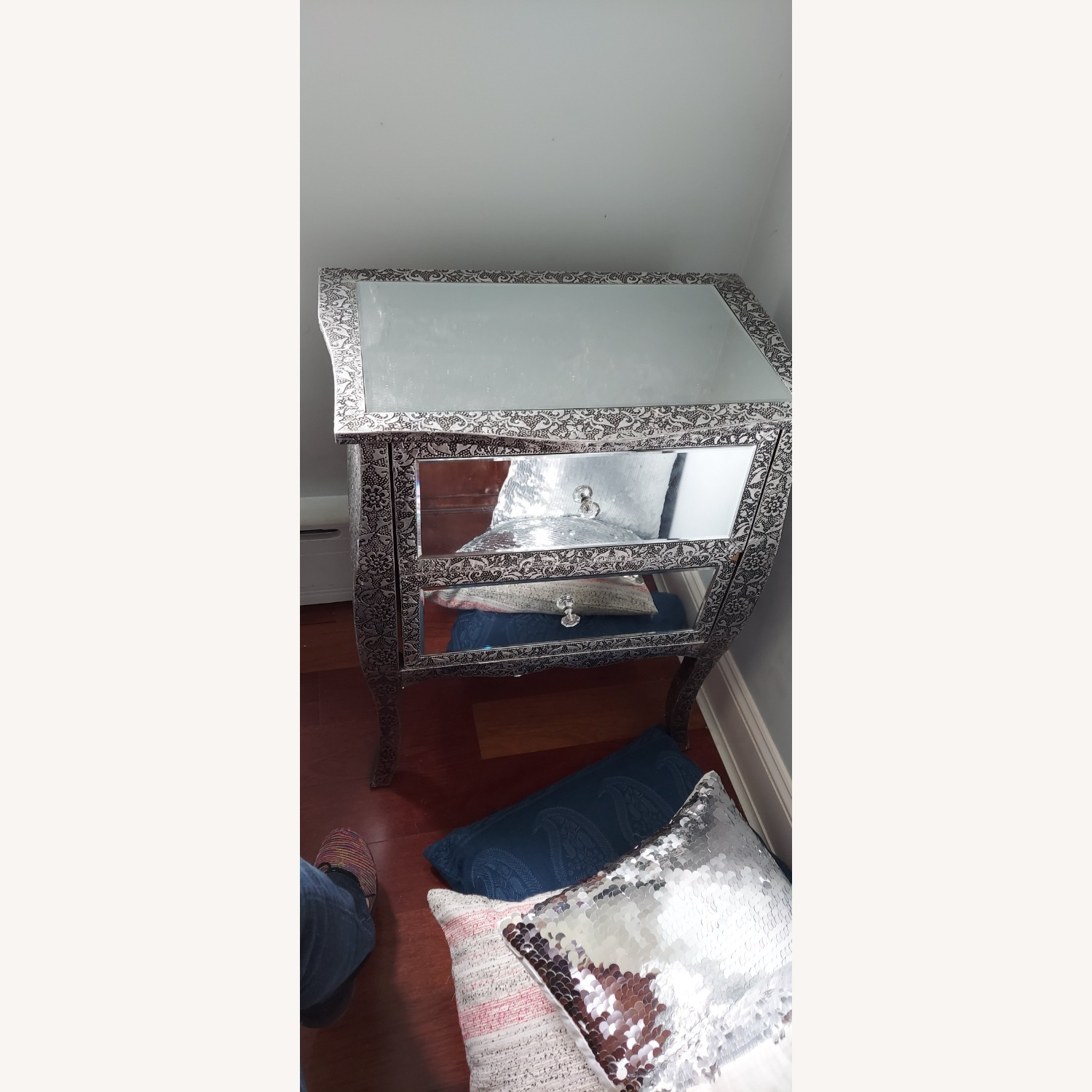Mirror Silver Side Tables - image-1