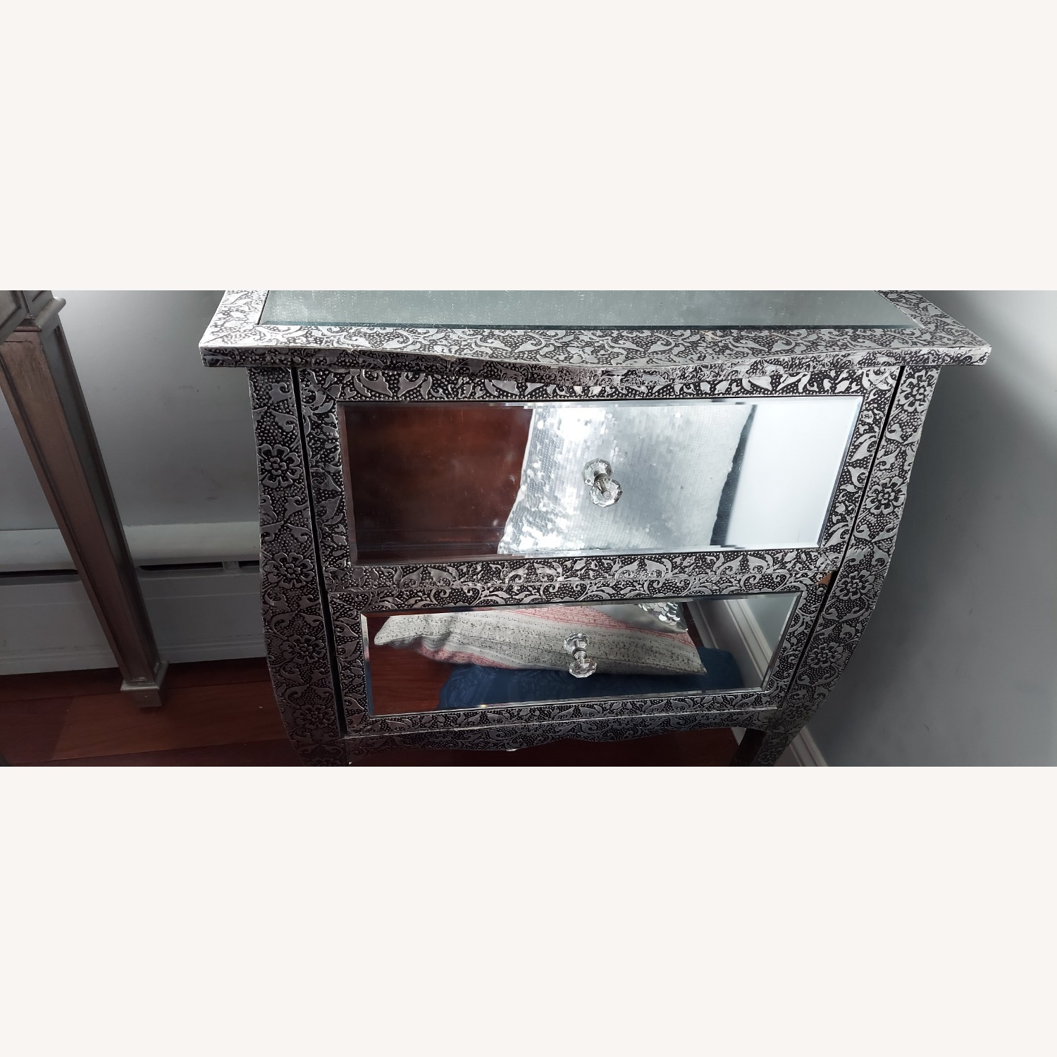 Mirror Silver Side Tables - image-3