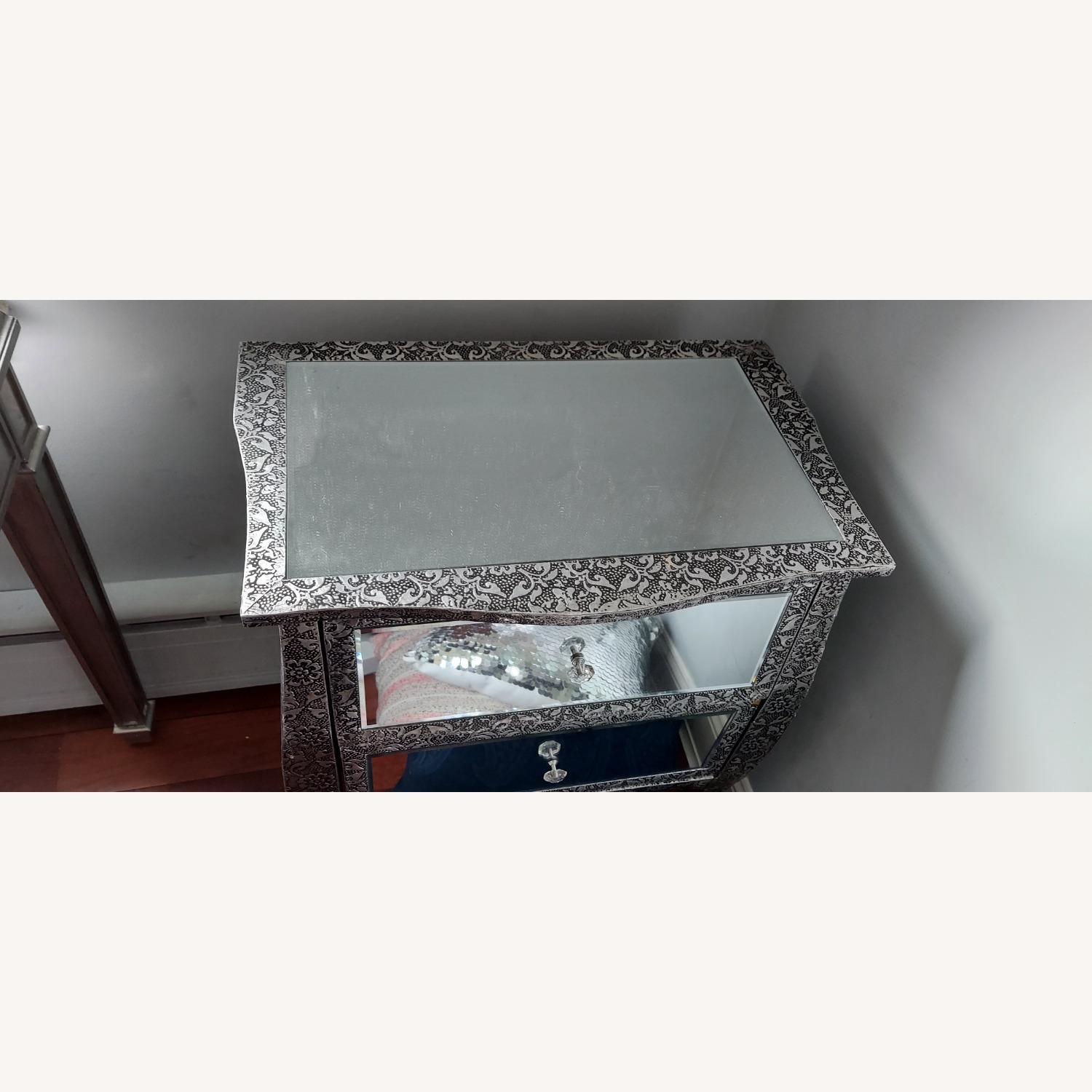 Mirror Silver Side Tables - image-4