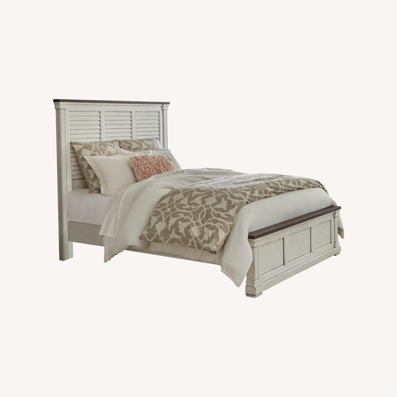Farmhouse Style King Bed In Dark Rum Finish - image-3