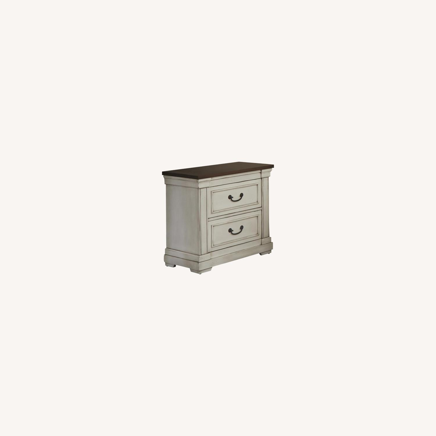 Nightstand W/ 2 Drawers In Dark Rum Finish - image-3