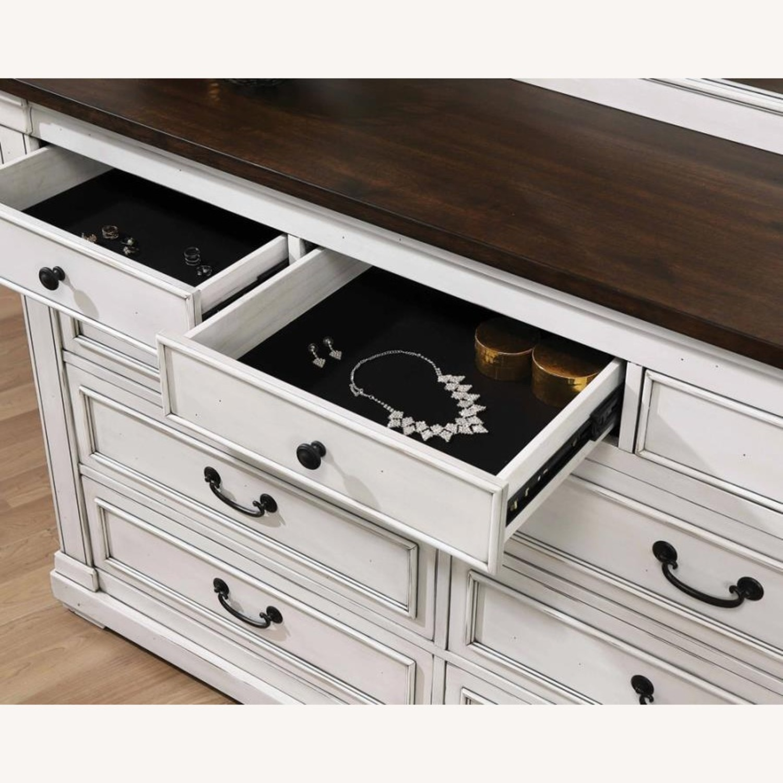 9-Drawer Dresser In Dark Rum Finish - image-1