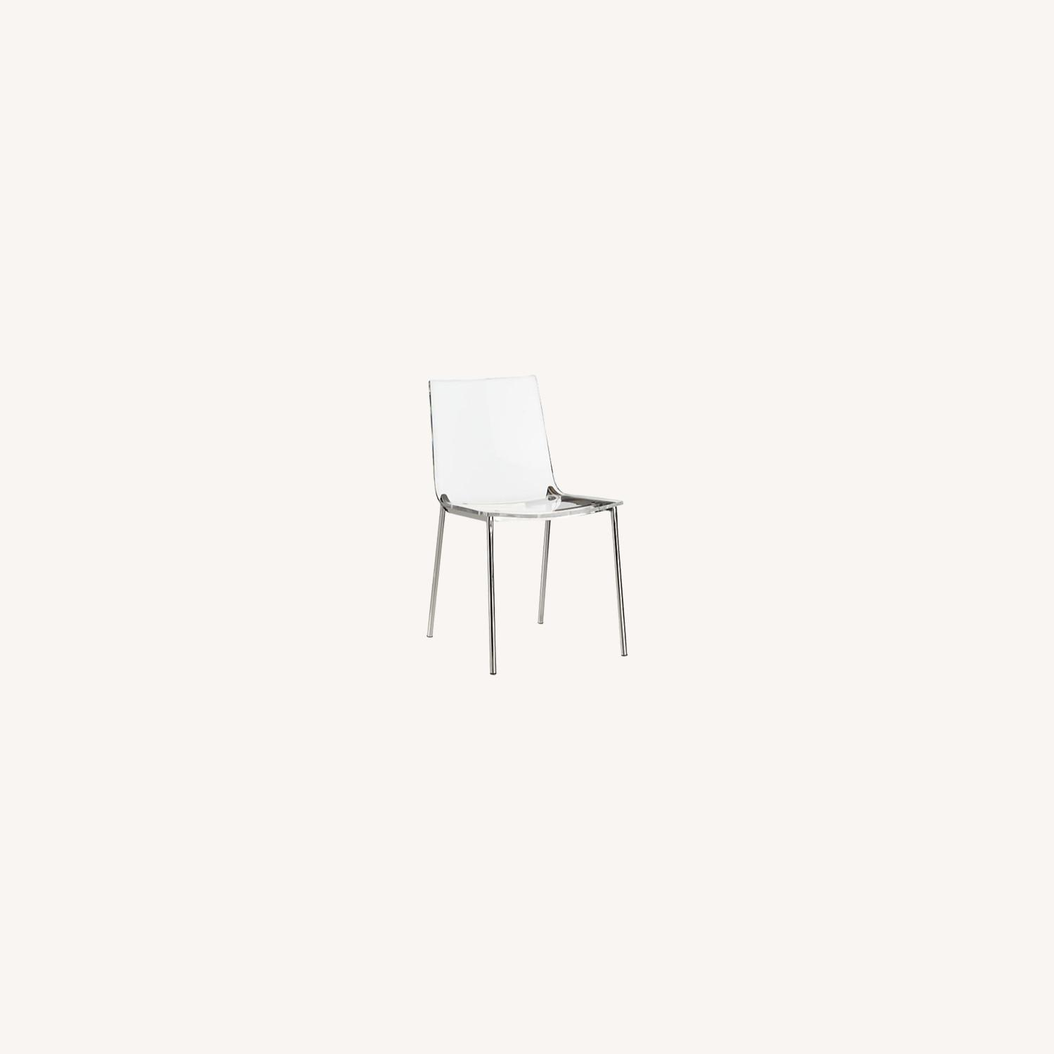Cb2 Chiaro Clear Chair Nickel - image-0
