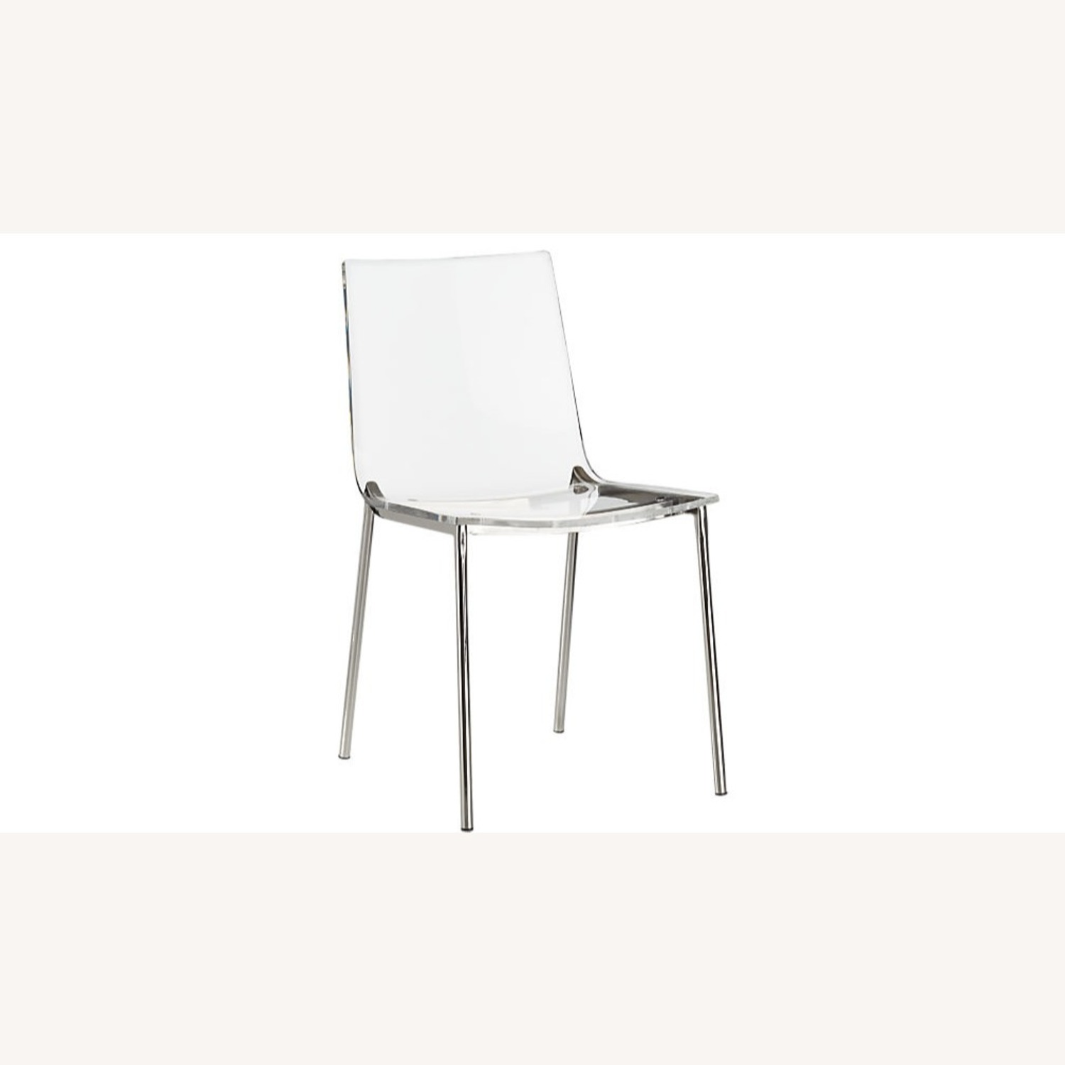 Cb2 Chiaro Clear Chair Nickel - image-4