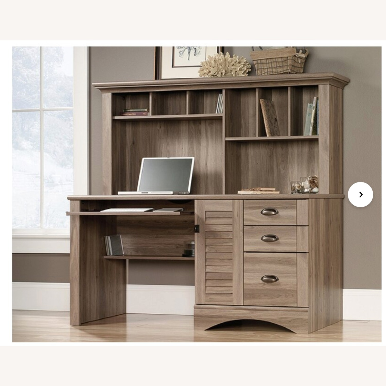 Wayfair Desk with Hutch - Salt Oak color - image-1