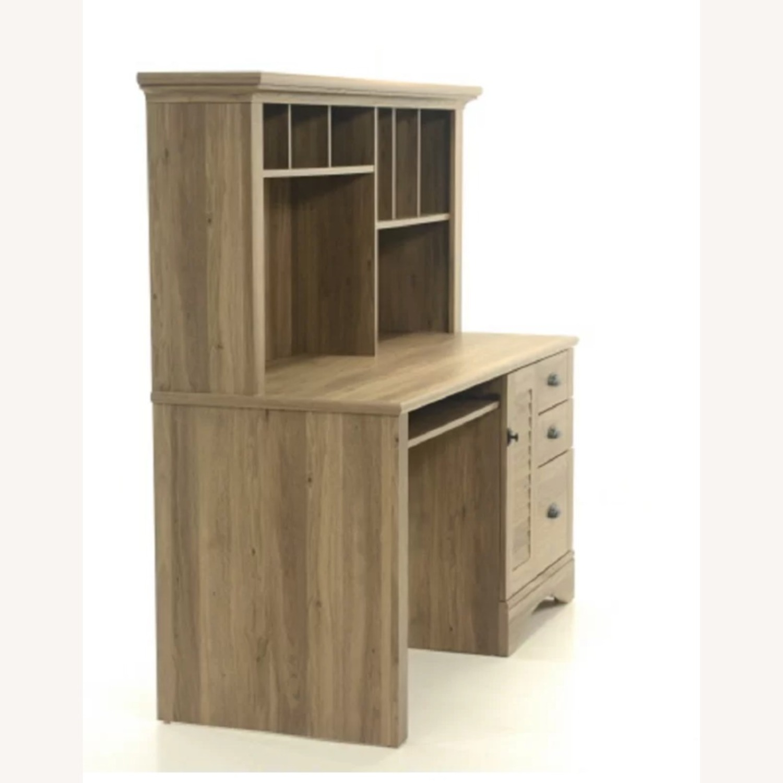 Wayfair Desk with Hutch - Salt Oak color - image-2