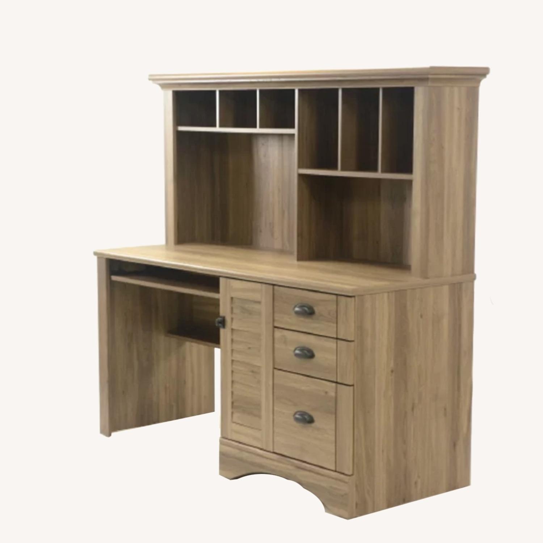 Wayfair Desk with Hutch - Salt Oak color - image-0