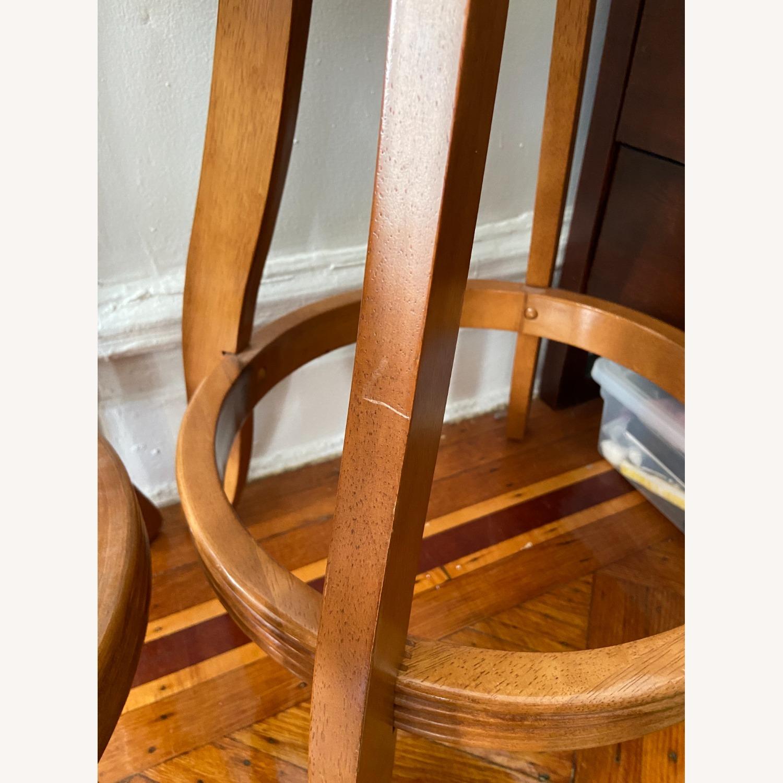 Vintage Wood/suede Stools - image-2