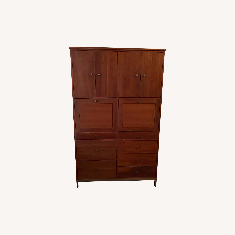 Shelllake Furniture Cherry Wood Storage Unit - image-0
