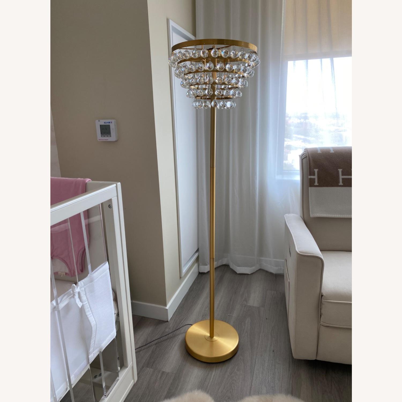 Gold Crystal Floor Lamp - image-1