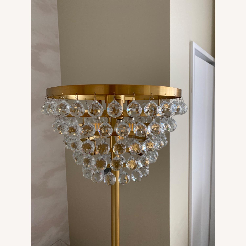Gold Crystal Floor Lamp - image-2