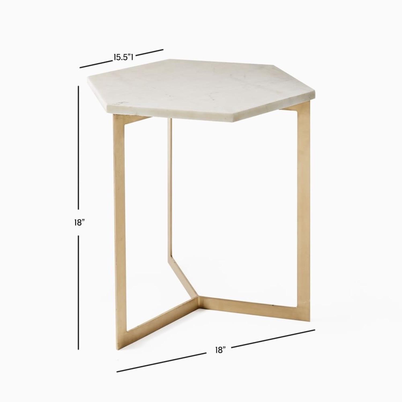 West Elm Hex Side Table - image-4