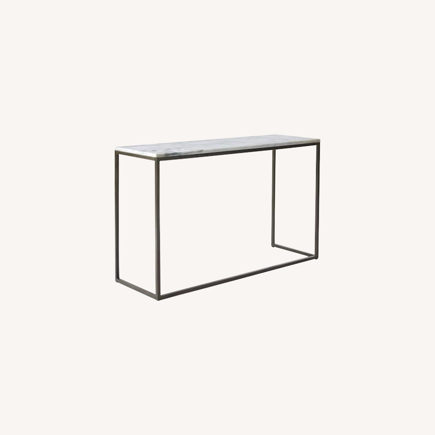 West Elm Marble Console Table - image-0