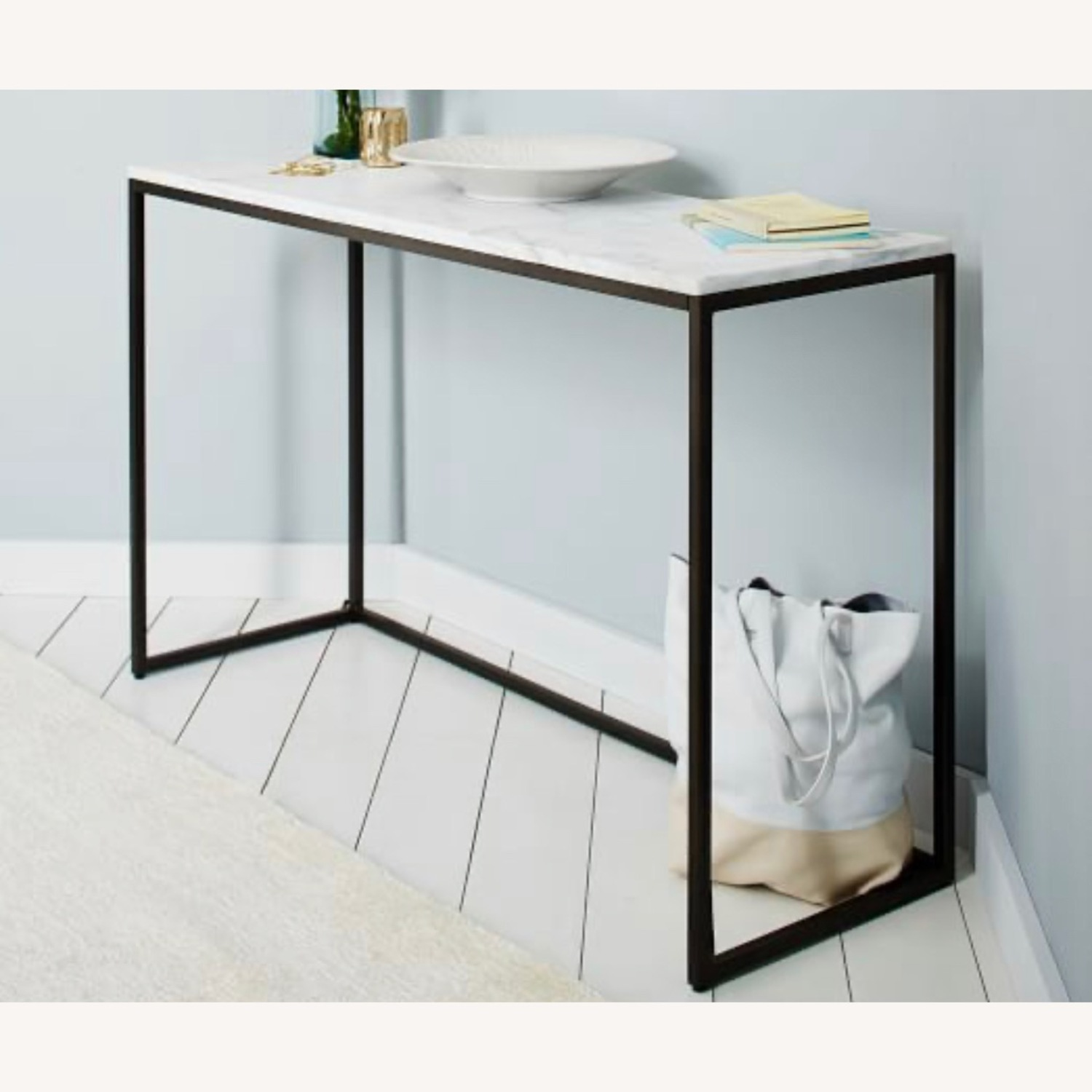 West Elm Marble Console Table - image-1
