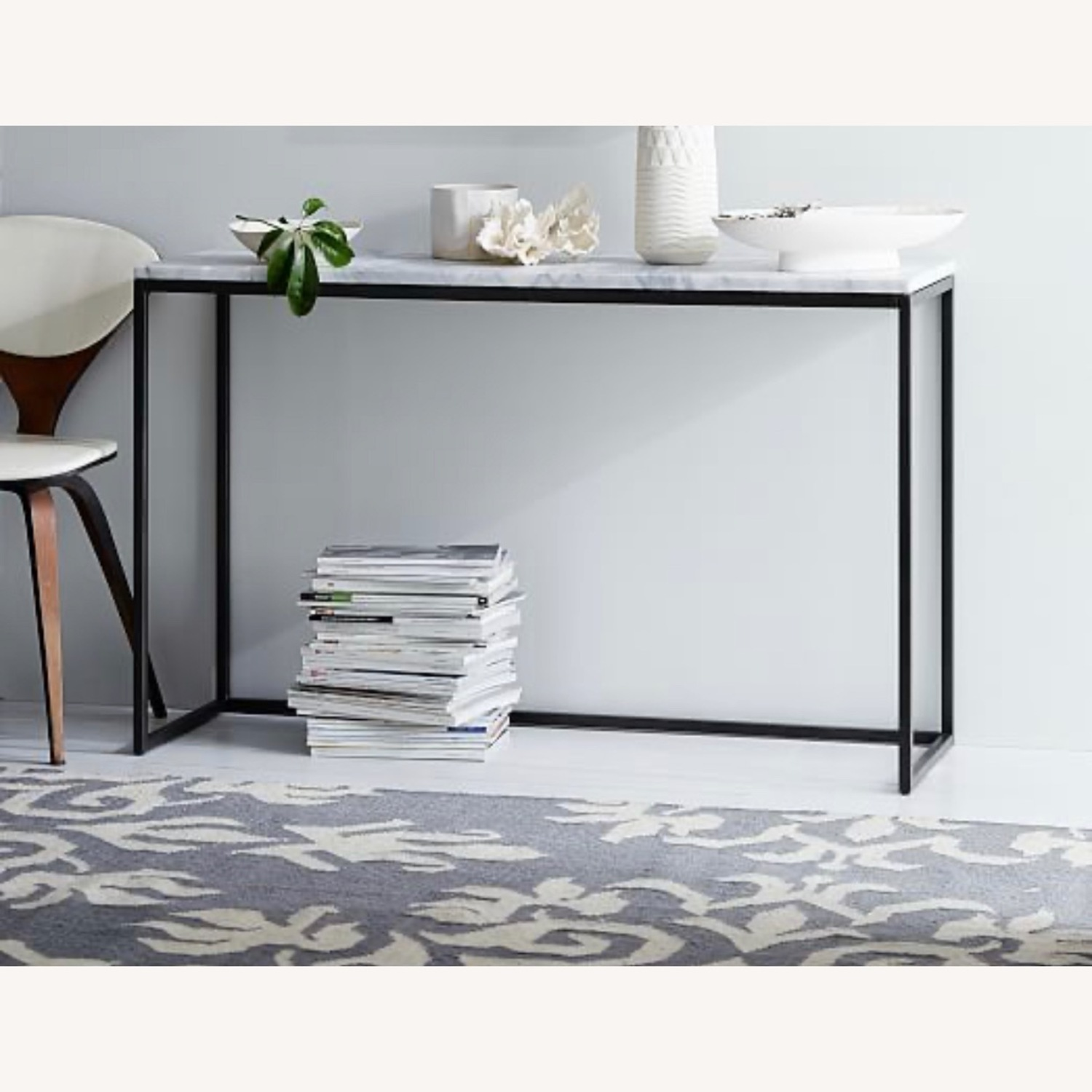 West Elm Marble Console Table - image-2