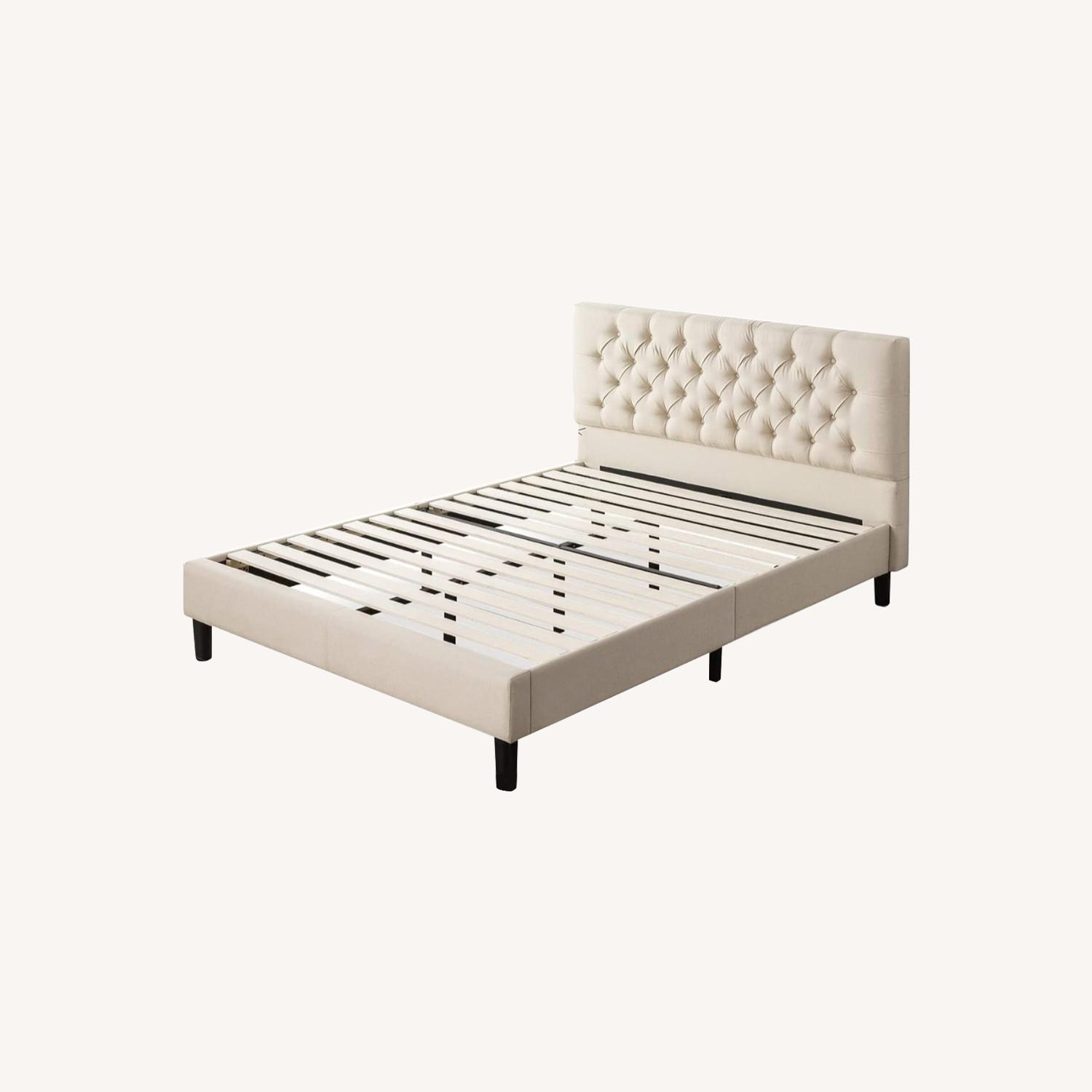 Zin Home Full Tufted Bed Frame - image-0