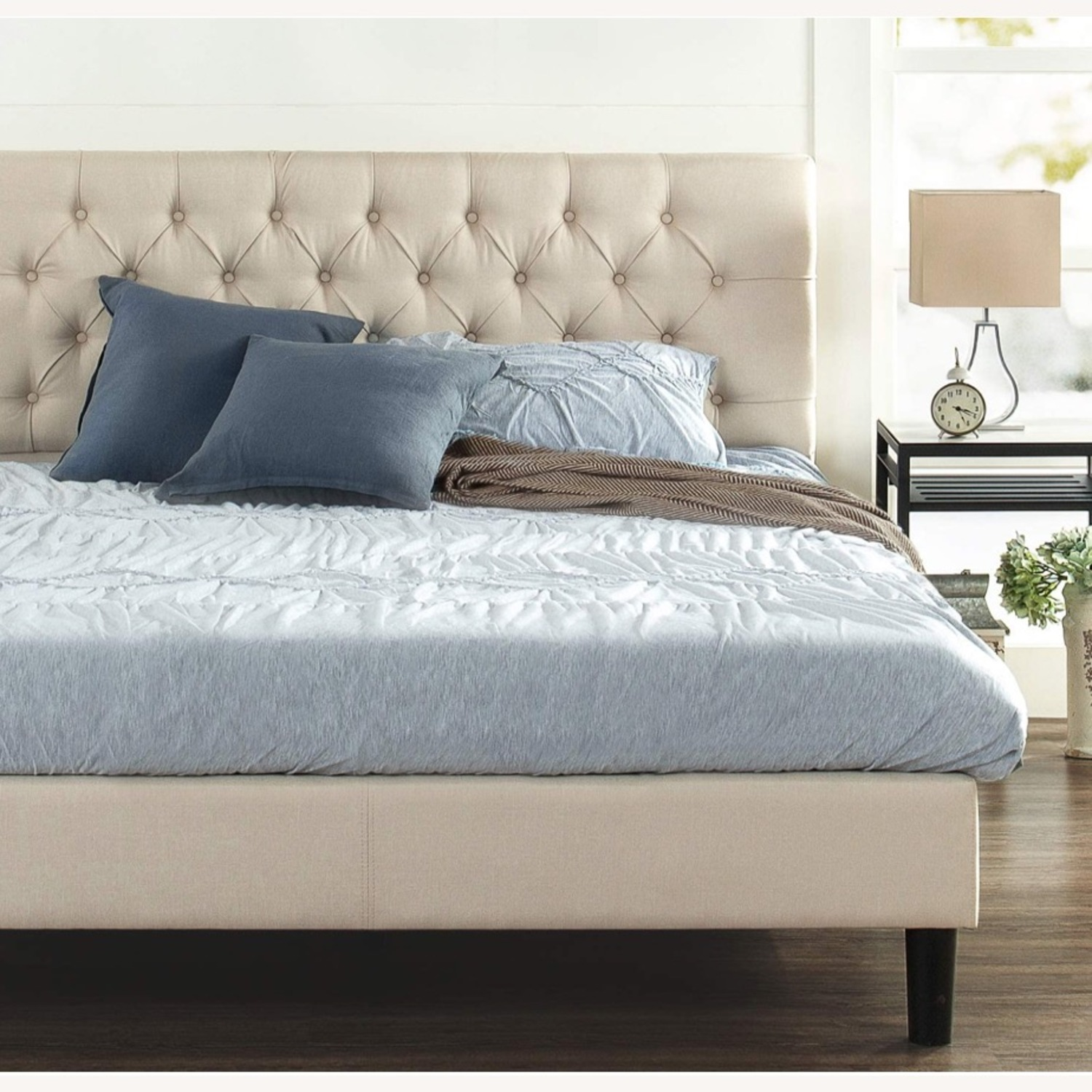 Zin Home Full Tufted Bed Frame - image-1