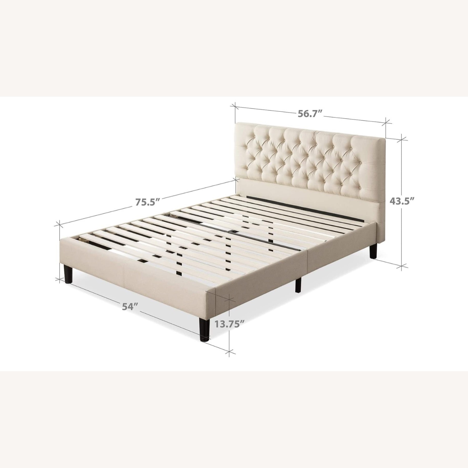 Zin Home Full Tufted Bed Frame - image-2
