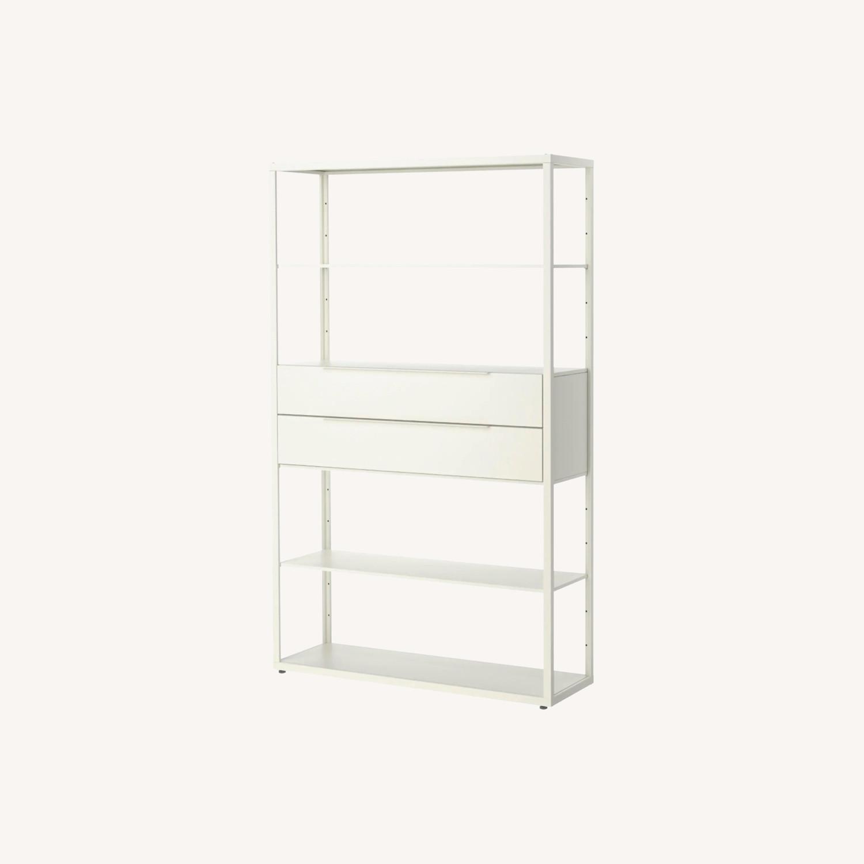 IKEA White Steel Bookcase - image-0