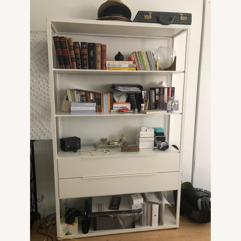 IKEA White Steel Bookcase - image-1
