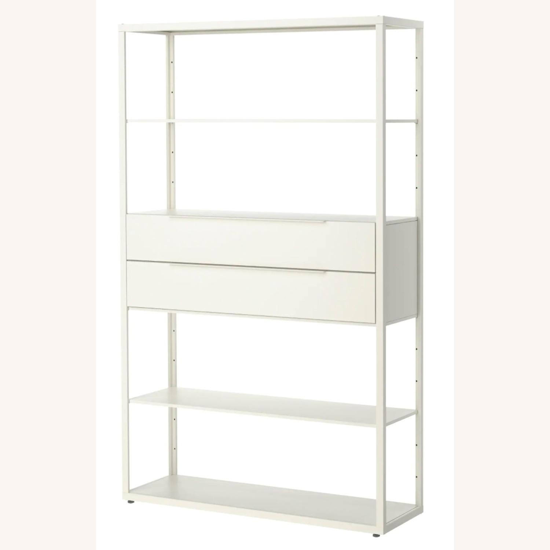 IKEA White Steel Bookcase - image-3