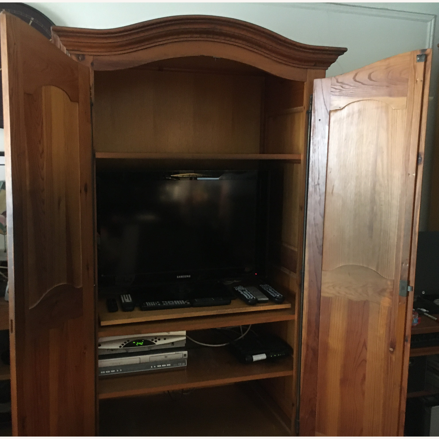 ABC Carpet and Home Wooden Armoire - image-3