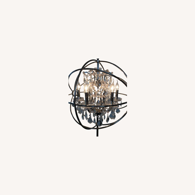 Restoration Hardware Orb Crystal Lamp - image-3