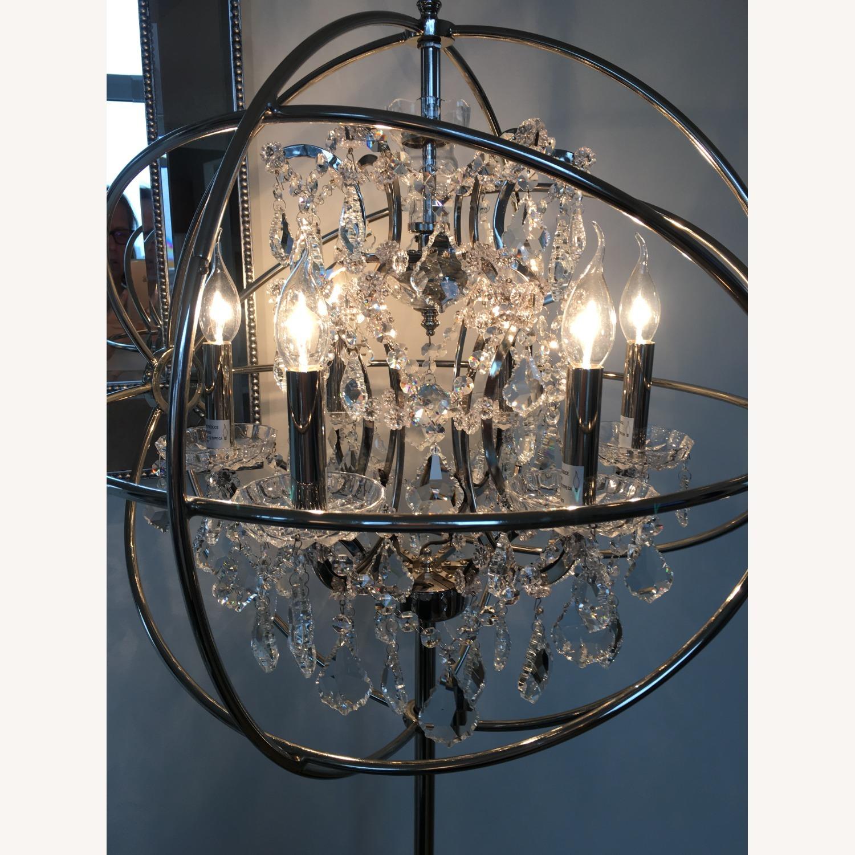 Restoration Hardware Orb Crystal Lamp - image-1