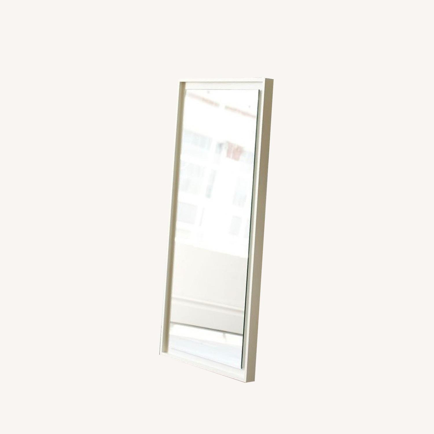West Elm Small Floating Wood Wall Mirror - image-0