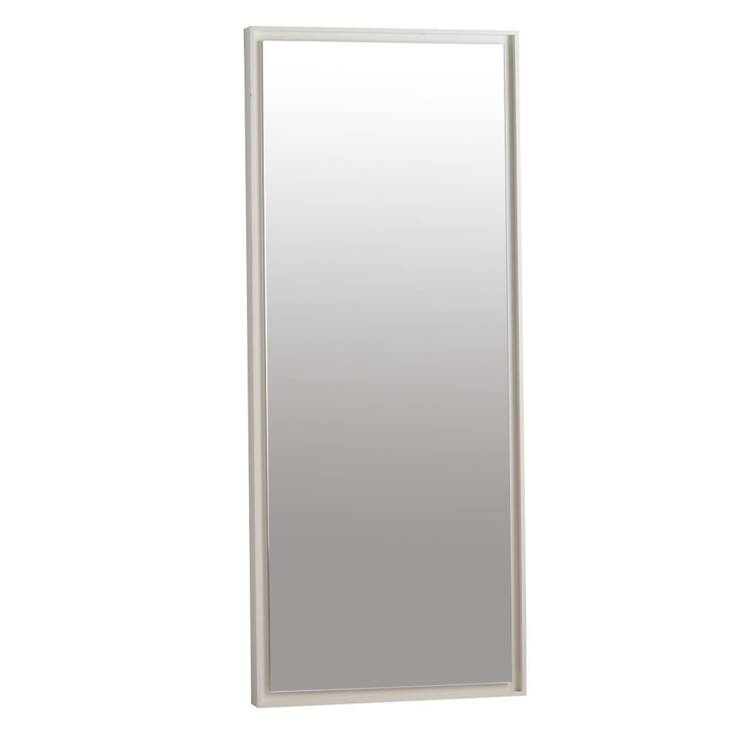 West Elm Small Floating Wood Wall Mirror - image-2