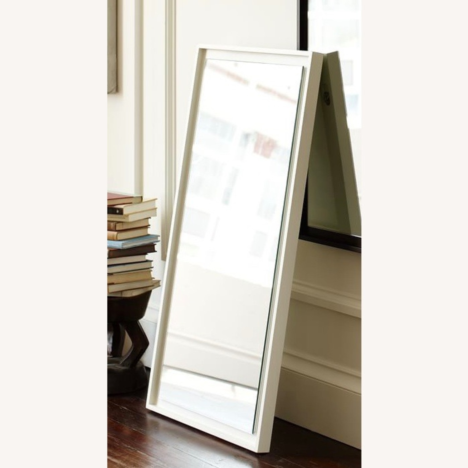 West Elm Small Floating Wood Wall Mirror - image-3