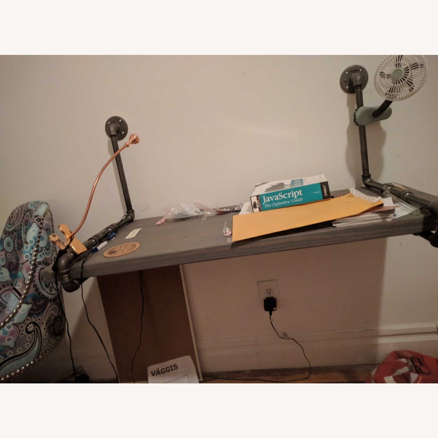 Industrial Desk with Real Pipes - image-2