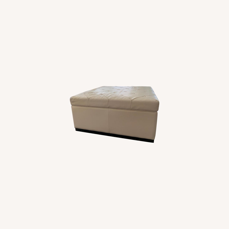 Sunpan Noah Tufted Storage Ottoman - image-0