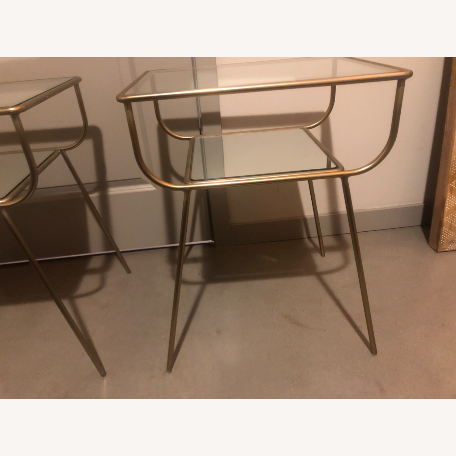 West Elm Curved Terrace Nightstand (Set of 2) - image-1