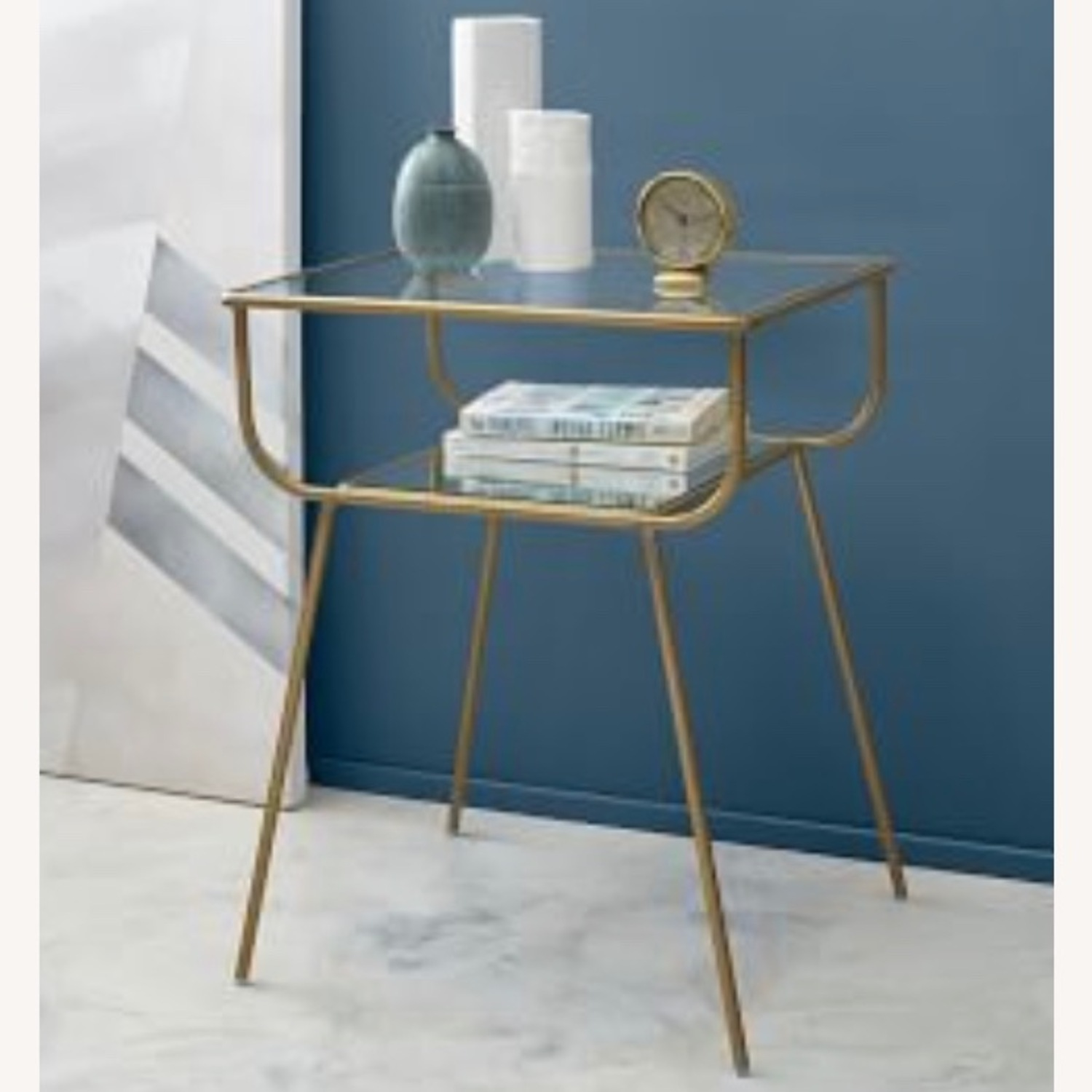 West Elm Curved Terrace Nightstand (Set of 2) - image-6