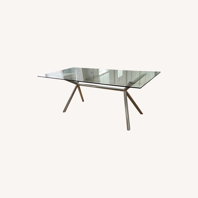 West Elm Sleek Dining Table - image-0