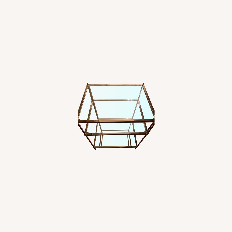 Wayfair Metallic & Glass Nightstands - Set of 2 - image-0