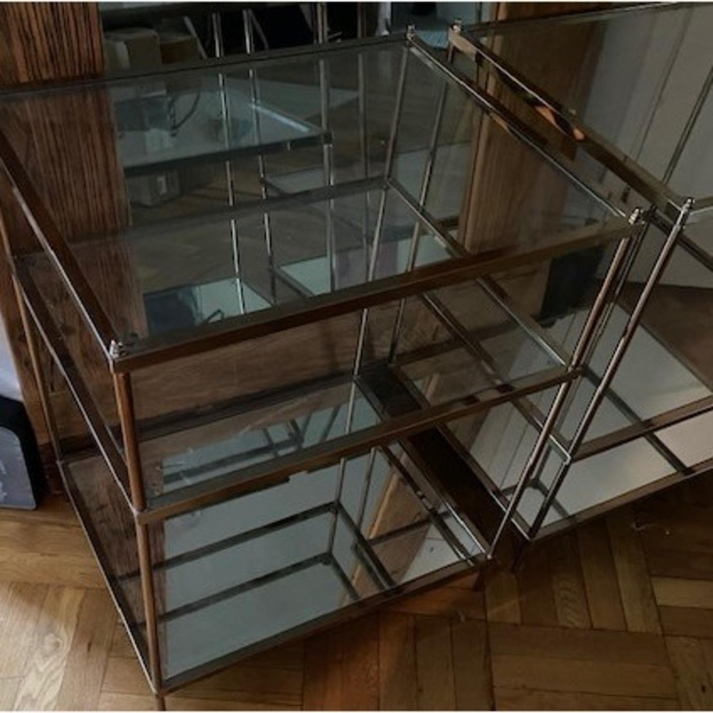 Wayfair Metallic & Glass Nightstands - Set of 2 - image-2