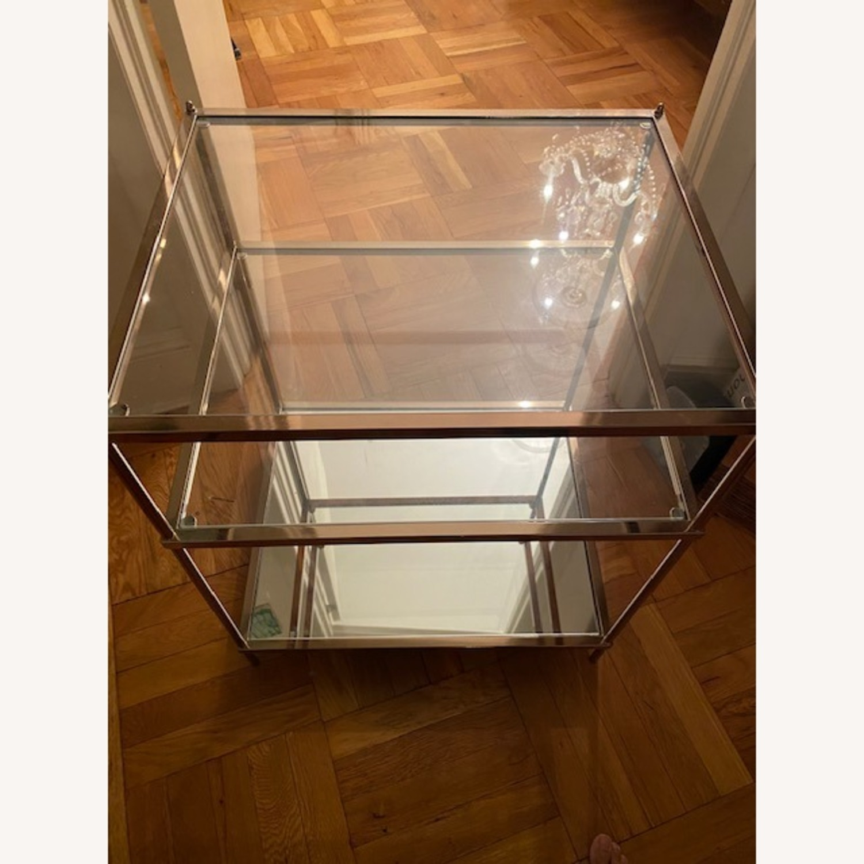 Wayfair Metallic & Glass Nightstands - Set of 2 - image-1