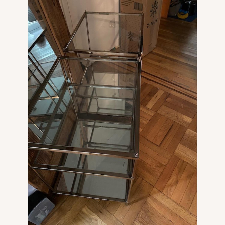 Wayfair Metallic & Glass Nightstands - Set of 2 - image-3