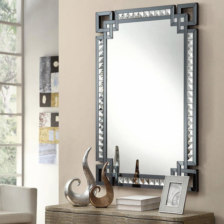 Rectangle Mirror w/ Decorative Border - image-1