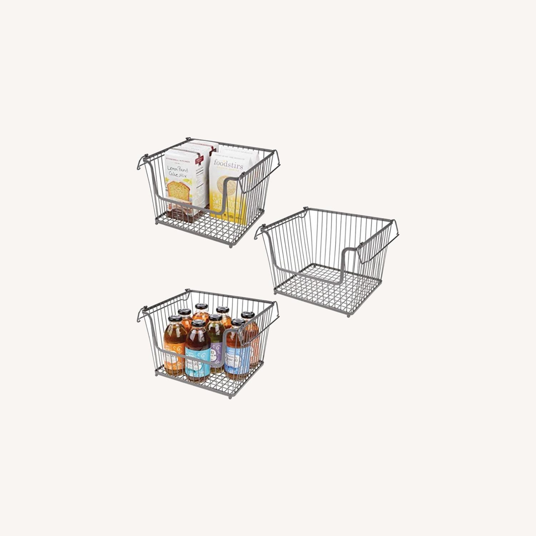 mDesign Stackable Storage Baskets - image-0