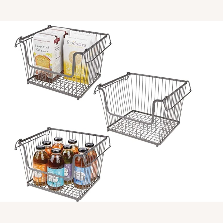 mDesign Stackable Storage Baskets - image-1