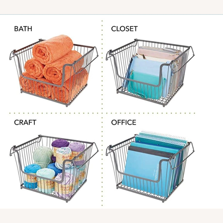 mDesign Stackable Storage Baskets - image-2
