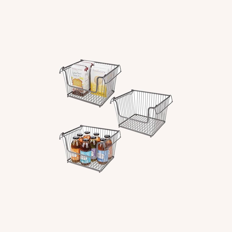 mDesign Stackable Storage Baskets - image-5