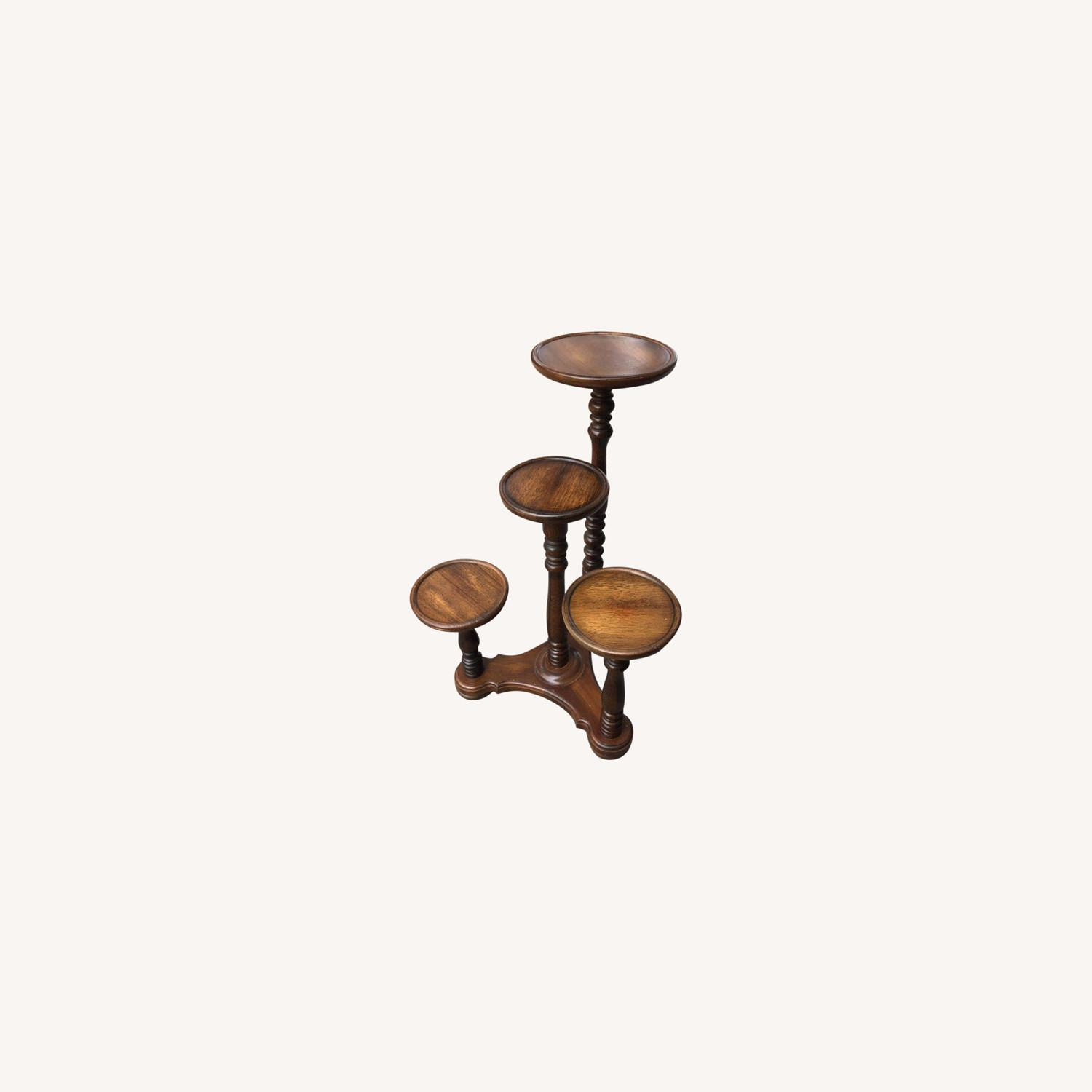 Antique 1940s Mahogany Flower Stand - image-0